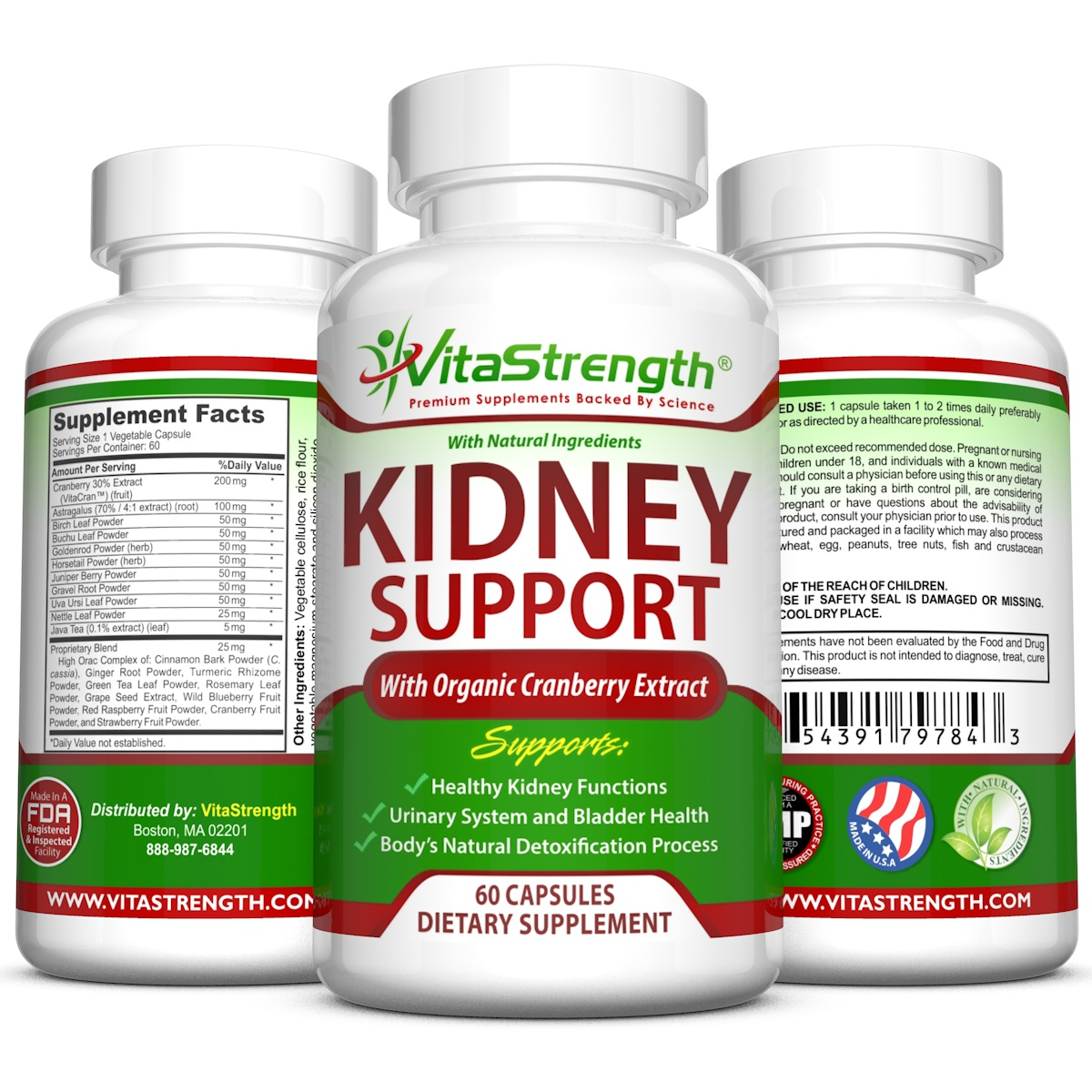 Premium Kidney Support With High Grade Organic Cranberry